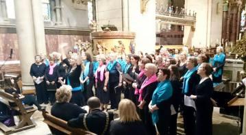 All 3 choirs singin away!