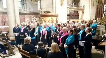 All 3 choirs singin away!