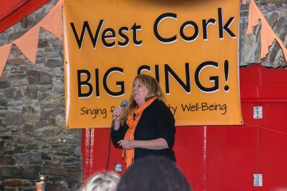 Jane Goss. West Cork BIG SING! facilitator