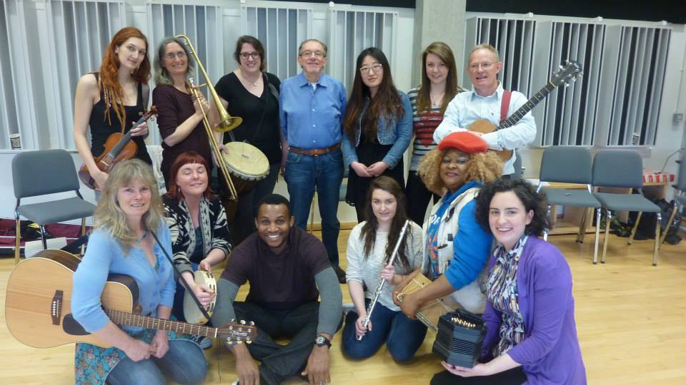 Here are my fellow course mates, together with one of our tutors, David Elliot.