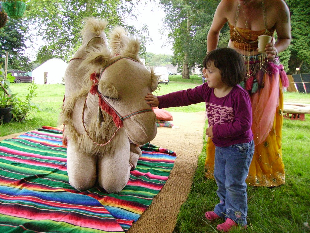 Making friends at the Big Green Gathering in Wales 2011