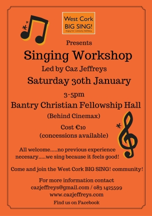Bantry Singing Workshop Sat. 30th Jan '16(1)