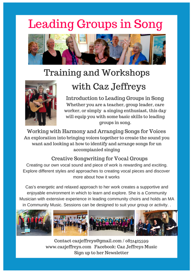 Leading Groups in Song -workshops offered(1)