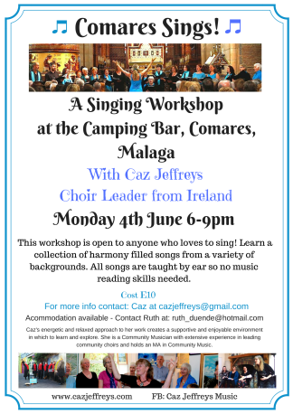 Singing Workshop at Comares June 18