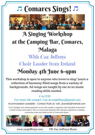Singing Workshop at Comares June 18