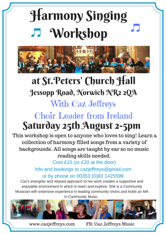 Harmony Singing Workshop - Sat 25th Aug '18(1)