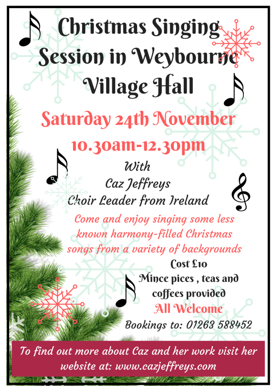 Christmas SingingSession in Weybourne Village Hall(1)