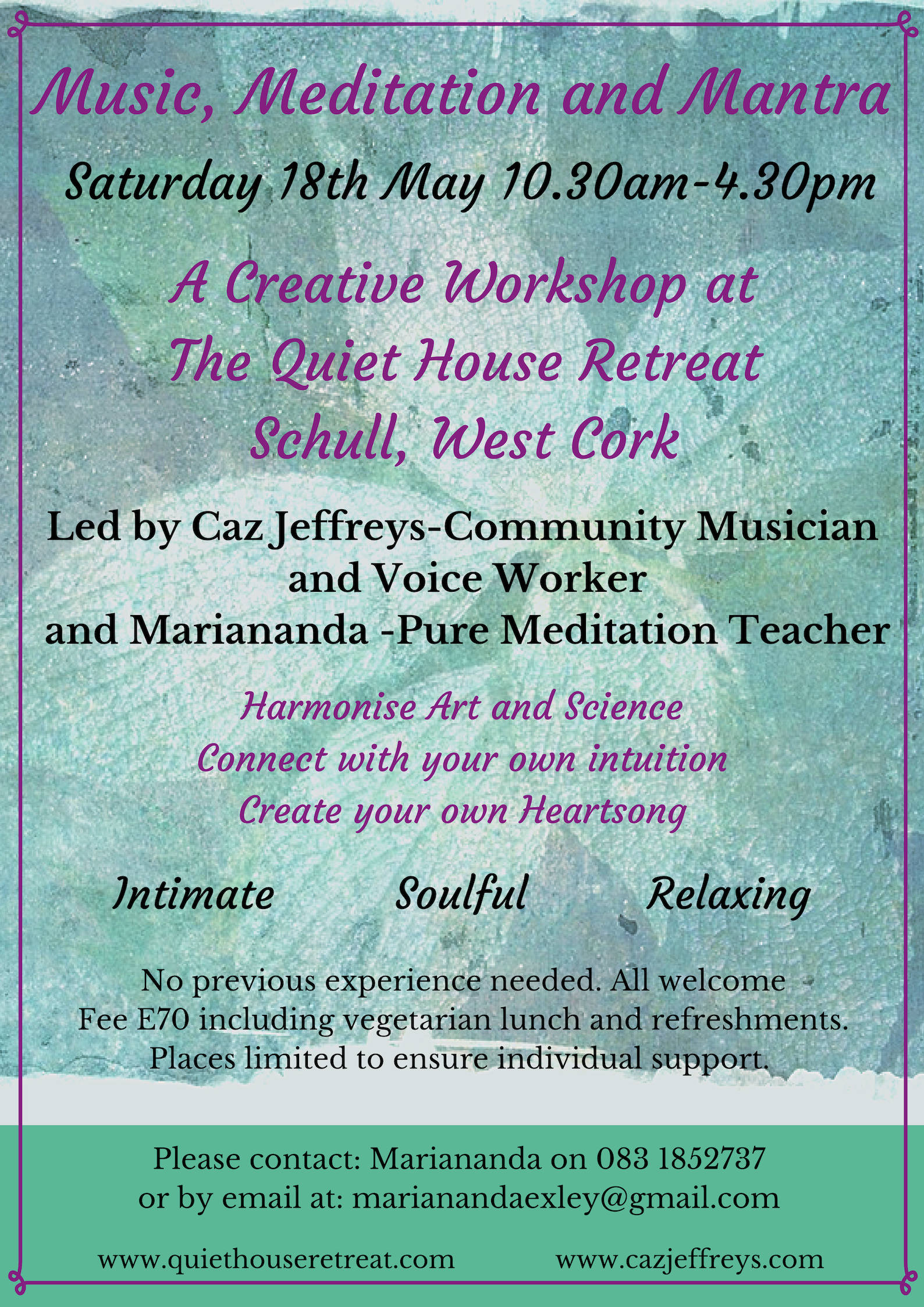 Music, Meditation and Mantra – A Creative Workshop at The Quiet